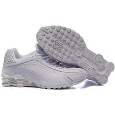 7683e0614e189 104265 088 Nike Shox R4 White White J09141 Gold Basketball Shoes