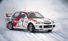 Mitsubishi Lancer Evo III - 1996 Rally de Suecia - Tommi Mäkinen y Seppo Harjanne
