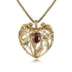 Frog & Heart Pendant Necklace