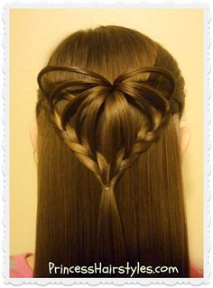 3d heart hairstyle tutorial