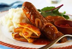 Great winter meal - Devilled Sausages with Mashed Potatoes