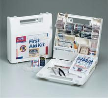 50 Person- 195 piece bulk ANSI kit- plastic case w- dividers- 1 ea.
