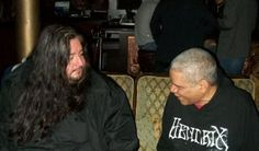 """Hanging with #DETHKLOK drummer, Gene Hoglan.  """"The Atomic Clock"""" has made kick-triplet history with: Dark Angel, Death, Strapping Young Lad ,Testament, Fear Factory, and many others. Gene's feet on bass drum are faster and more accurate than most musician's hands are."""