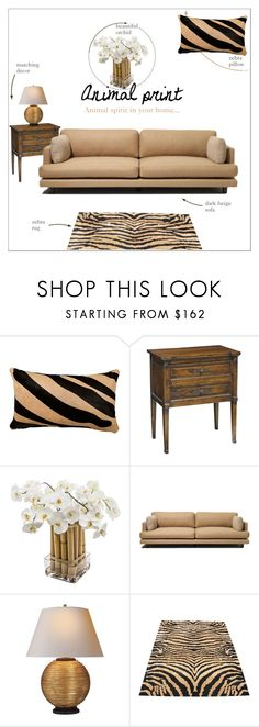 """""""Animal print"""" by taniadeseptembre ❤ liked on Polyvore featuring interior, interiors, interior design, home, home decor, interior decorating, Sia, Knoll, Safavieh and beige"""