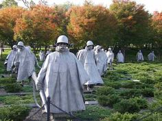 Korean War Memorial Soldiers - this was amazing to stand in the middle of.