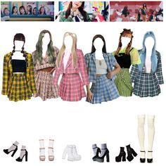 Korean Girl Fashion, Ulzzang Fashion, Kpop Fashion Outfits, Girls Fashion Clothes, Stage Outfits, Girly Outfits, Dance Outfits, Cute Casual Outfits, Chic Outfits