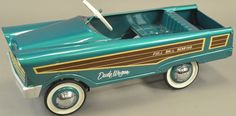 circa Ford model toy auto, pressed steel, painted in bright teal color with simulated wood side decal, nickel h. on Nov 2016 1960s Toys, Games For Boys, Pedal Cars, Small Cars, Toys Shop, Go Kart, Toddler Toys, Cool Toys, Vintage Toys