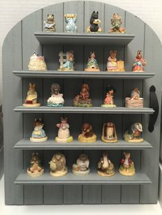 Lenox-Beatrix-Potter-24-Thimble-Figurine-Collection-Wall-Display-Shelf-1996