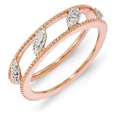 Rose Gold-plated Diamond Jacket Ring  #rosegold #diamondring