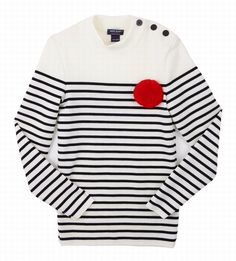 "The Terrier and Lobster: Desired: Saint James ""Mousse"" Sailor Sweater Saint James, The Paris Wife, Valentine Gauthier, Paris Shopping, Sailor Fashion, Stripes Fashion, Nordic Style, Mousse, Couture Fashion"