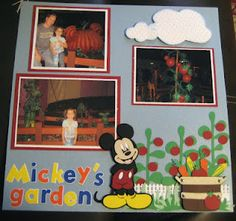 This is a layout of Mickey's garden in Disney World. I used mickey font, mickey and friends cart, and pooh and friends cricut cart.