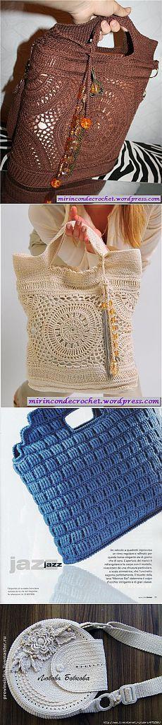 Handbags crocheted. Selection of 4.