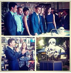 The cast of BONES for the 200th episode party.