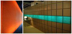 Radiant-verhoiluelementti Ruukin teräksisiin seinäelementteihin, koko ja väritys varioitavissa // Tilaaja/Client: Rautaruukki Oyj // Suunnittelijat/Designers: Anni Jaakkola ja Sanna Väänänen, 2005 // Yhteistyökumppanit/Partners: Lipputuote Torpo, Fire Safe Seppo Saari