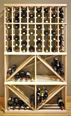 Wine Rack 8 Column With Box Diamond Bin Bulk Storage... can so see this as a diy and much cheapier!