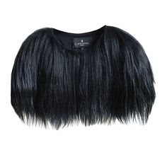 J. Mendel Black Runway Goat Hair Bolero / Capelet | From a collection of rare vintage jackets at https://www.1stdibs.com/fashion/clothing/jackets/