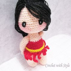 **Sarina Pixie Doll Crochet Pattern** Sarina is a cute little pixie who is so sweet and gentle. She is a shy and quiet little pixie. She loves flowers and sunshine. If you listen really close, you may hear her soft laughter...