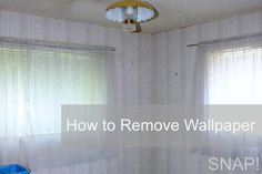 How to Remove Wallpaper Tutorial  I just used the DIY version and it works great!