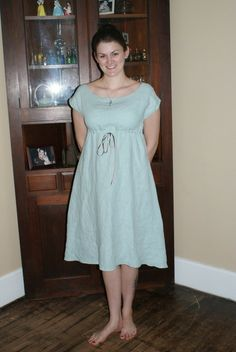 Sleeves, a-line to skirt, color of fabric.