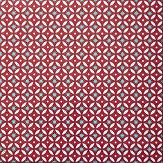 Ideale vloerbedekking: deze vinylvloer, nu in rood, met wit, geel en blauw/turquoise. Perfect voor de caravan, gang of badkamer! Price €21,95