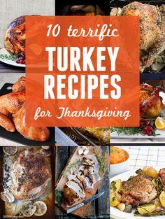10 Terrific Turkey Recipes for Thanksgiving