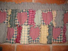 PatternMart.com ::. PatternMart: Bette Star Rag Quilted Valance ... : rag quilt curtains - Adamdwight.com