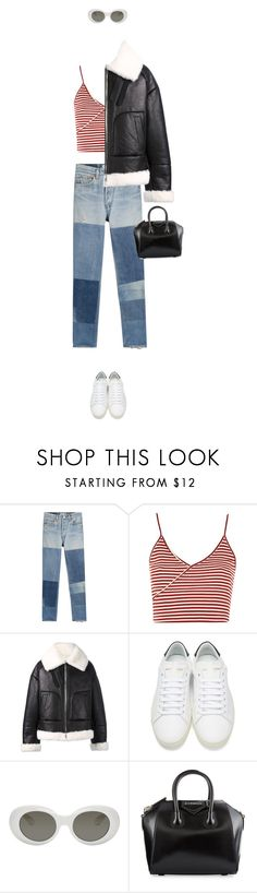 """""""Are you cold or not??"""" by kydajenner on Polyvore featuring mode, RE/DONE, Topshop, Juun.j, Yves Saint Laurent, Acne Studios, Givenchy en StreetStyle"""