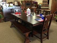 Rustic Cherry Amish Made Dining Set Deutsch Furniture Haus Rochester, MN