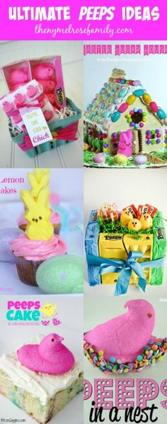 A collection of the Ultimate Peeps Ideas perfect for Easter.