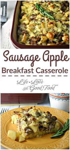 Sausage Apple Breakast Casserole |Life, Love, and Good Food