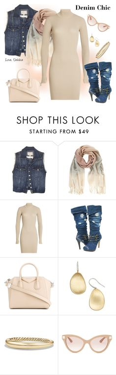 """Denim Chic"" by debbie-michailides ❤ liked on Polyvore featuring Current/Elliott, Mint Velvet, adidas Originals, Givenchy, Marco Bicego, David Yurman and Valentino"