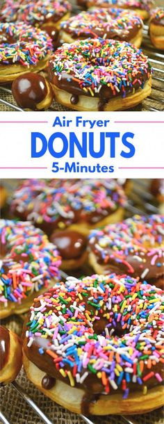 5 Minute Air Fryer Donuts – A simple recipe for a favorite treat that can be made in just 5 minutes. 5 Minute Air Fryer Donuts – A simple recipe for a favorite treat that can be made in just 5 minutes. Air Fryer Recipes Potatoes, Air Fryer Oven Recipes, Air Fryer Dinner Recipes, Air Fryer Recipes Donuts, Recipes Dinner, Dinner Ideas, Air Fryer Doughnut Recipe, Donut Recipes, Dessert Recipes
