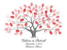 make for Julie and Zac's wedding!    Thumbprint Tree