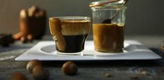 Caffè Napoletano. Prepare an espresso in a small glass.Top with 30ml of Hazelnut Cream. Decorate with a light dusting of ground coffee.- Preparation of Hazelnut Cream. Pour double cream and hazelnut topping into a large bowl. Whip with an electric whisk.