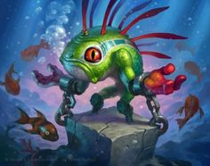 James Ryman - Sleep with the Fishes (Hearthstone) Game Character Design, Character Concept, Concept Art, Warcraft Art, World Of Warcraft, Warcraft Legion, Sleep With The Fishes, Dragons, Card Creator