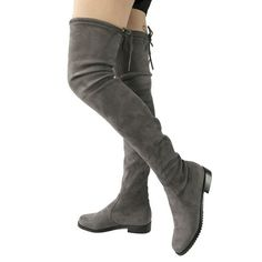 Thigh High Flat Boots Women Over The Knee Boots Comfort Fall Winter Faux Suede Boots Fashion Shoes Woman Black Dark Gray Wine Thigh High Boots Flat, Flat Boots, Suede Boots, Men's Boots, Best Boots For Men, Women's Over The Knee Boots, Casual Oxford Shoes, Fashion Boots, Flats