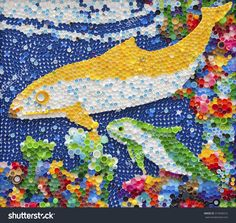 Diy Bottle Cap Crafts 386817055495989052 - bottle cap recycling Source by Plastic Bottle Tops, Plastic Art, Bottle Top Art, Diy Bottle Cap Crafts, Art Activities For Toddlers, Dolphin Art, Sensory Art, Murals Street Art, Recycled Art
