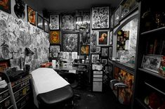 "809 Likes, 3 Comments - Guru Tattoo (@gurutattoo) on Instagram: ""Leave no wall untouched. Cool shot of @eno777's booth from the PB shop a few years ago. It looks a…"""