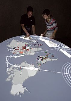 Great interactive projection. ART+COM:Home and Exile Berlin