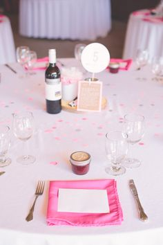 pink party reception, photo by The Nickersons http://ruffledblog.com/north-arm-farm-wedding #weddingideas #tablescape #pinkwedding