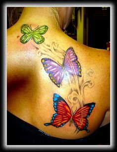 cross and butterfly tattoo designs | Butterfly tattoos meaning is dissimilar based on varied cultures ...
