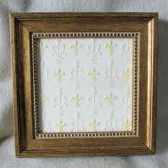 SOLD....Vintage French Fleur de Lis Art Pottery Tile by Neatcurios on Etsy