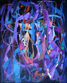 Andre Lanskoy Composition sur fond noir