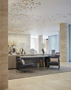 One Kensington Gardens is an exceptional development situated opposite Kensington Palace and Gardens.Taylor Howes were appointed to furnish the common parts including the reception, library, meeting rooms and private health spa.