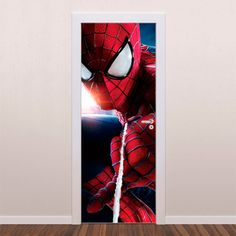 Adesivo Decorativo Para Porta Homem Aranha II é um adesivo ideal para decoração de portas. Decore sua casa com adesivos de porta e personalize seu ambien...