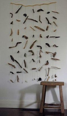 Driftwood Mobile as art: