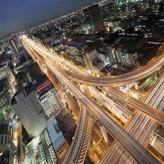 Urban Spear, Osaka, Japan by spiraldelight, via Flickr