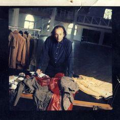 Massimo Osti at the Zanardi studio, Bologna, 1994.
