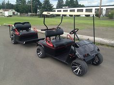Custom Golf Cart and Trailer Scooters, Golf Mk5, Custom Golf Carts, Golf Cart Accessories, Golf Cart Batteries, Go Kart, My Ride, Golf Clubs, Camping