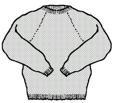 21 March Raglan pullover for anyone, any yarn -- so glad I found this again. Used to use this to design sweaters. Sweater Knitting Patterns, Easy Knitting, Knitting Stitches, Knitting Sweaters, Raglan Pullover, How To Purl Knit, Crochet Clothes, Pulls, Knit Crochet